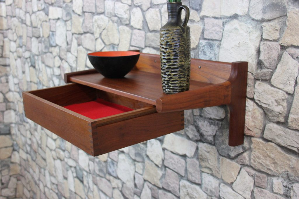60er TEAK BØRGE MOGENSEN REGAL WANDREGAL WANDKONSOLE DANISH SHELF DANISH 60s