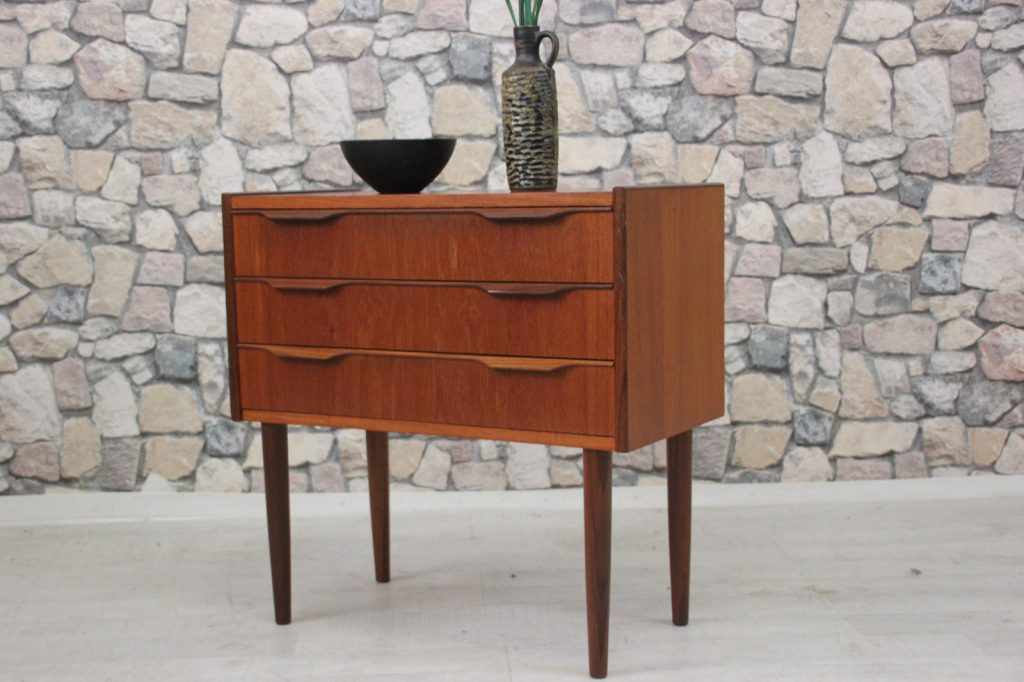 60er TEAK KOMMODE DANISH DESIGN 60s CHEST DANISH