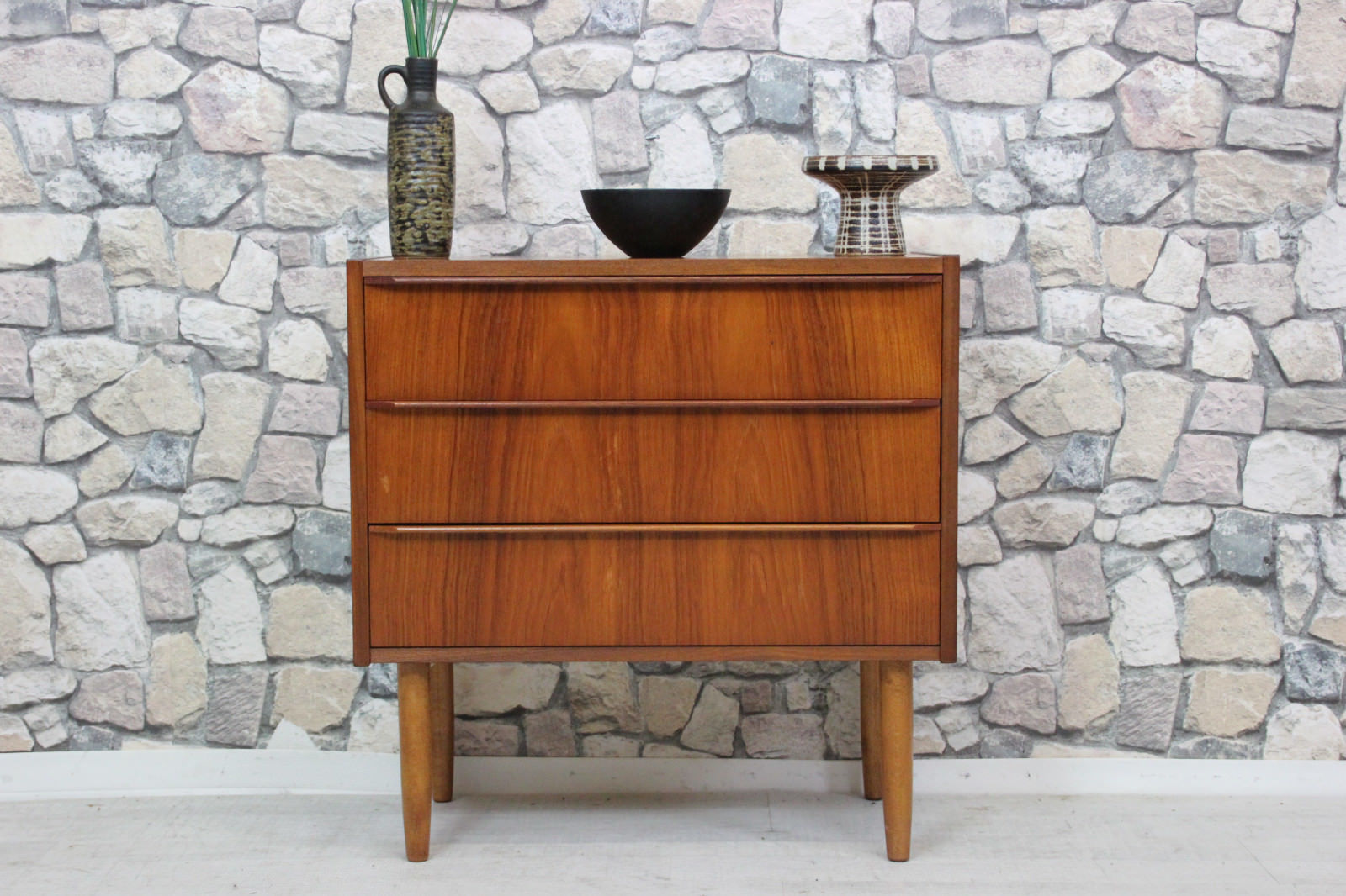 60er Teak Kommode Danish Design 60s Chest Danish Grünberger Shop