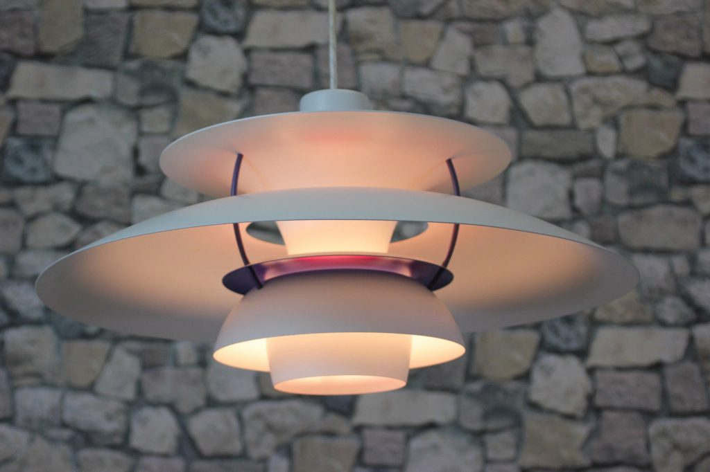 LOUIS POULSEN PH 5 LAMPE DECKENLAMPE DANISH 60er CEILING LAMP 60s