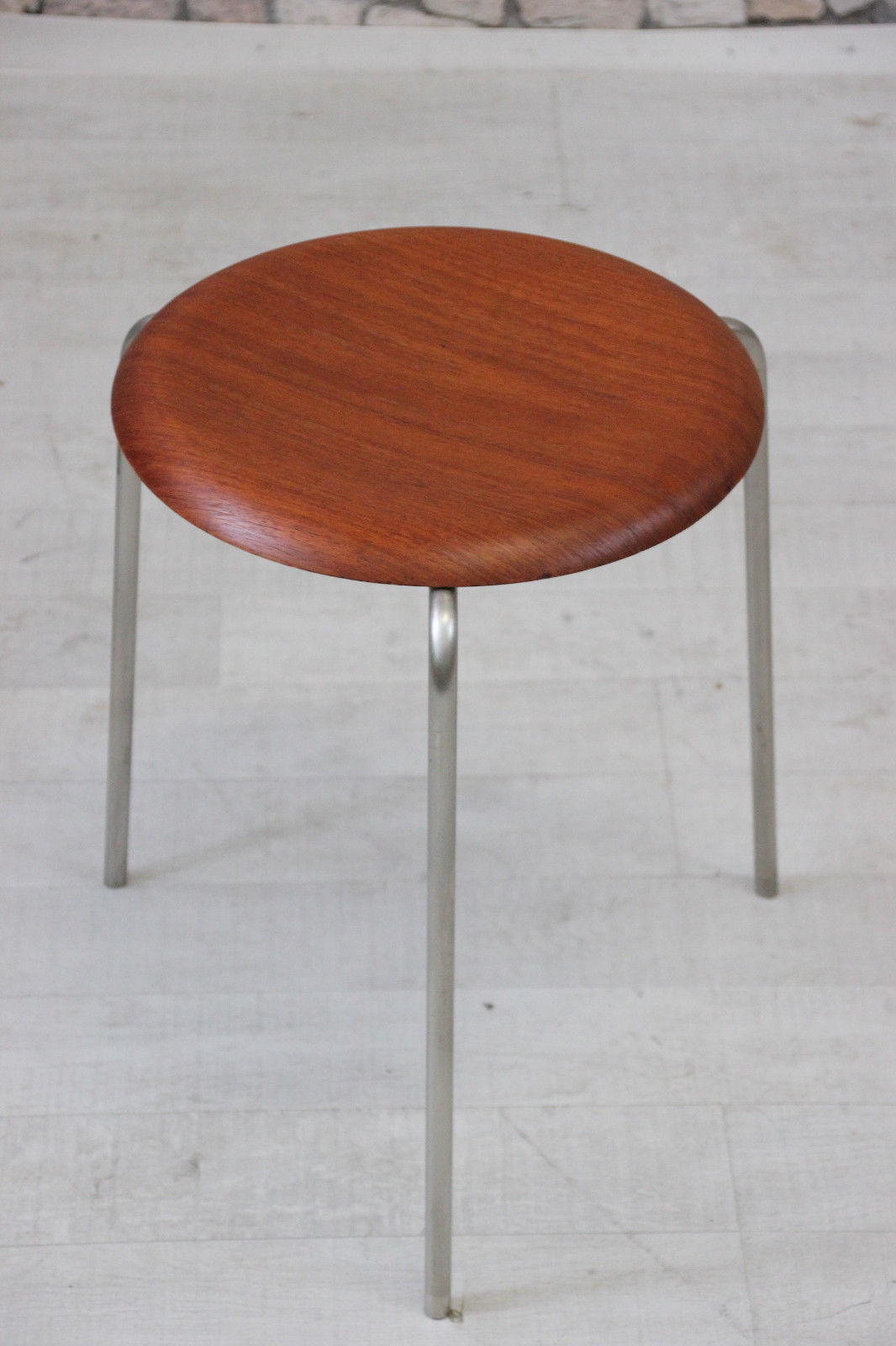 60er teak fritz hansen arne jacobsen 3170 hocker mid century danish 60s stool gr nberger shop. Black Bedroom Furniture Sets. Home Design Ideas